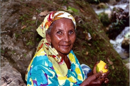 Dominican Lady with Mango